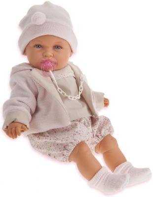 Кукла Munecas Antonio Juan Роза в бежевом 55 см плачущая 1903W