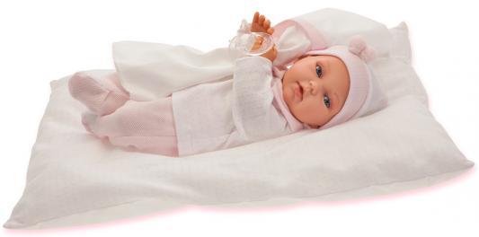 """Кукла Munecas Antonio Juan """"Ману"""" 29 см со звуком в розовом 1780P"""