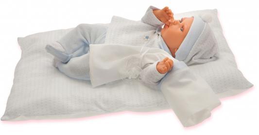 Кукла Munecas Antonio Juan Ману 29 см со звуком в голубом 1780B кукла munecas antonio juan бенита в голубом 55 см со звуком 1901b