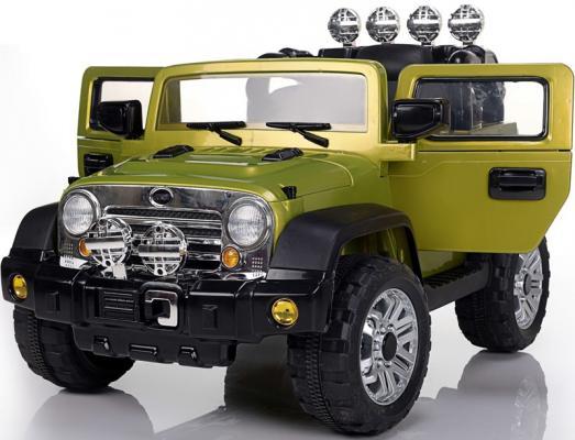 Электромобиль BELLA Джип (аккумуляторно-зарядный, с пультом управления) JJ235 Салатовый электромобиль мастер джип со склада