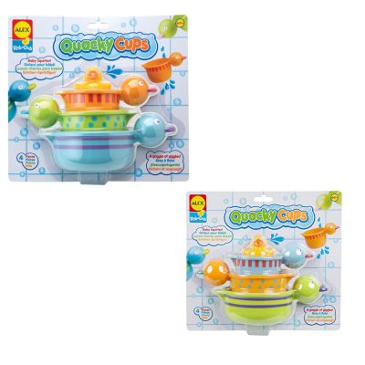 Пластмассовая игрушка для ванны ALEX Чашки-уточки alex игрушки для ванны 3 цветные лодочки