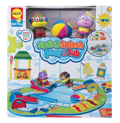 """Пластмассовая игрушка для ванны ALEX """"Пляжная вечеринка"""" 9 см"""