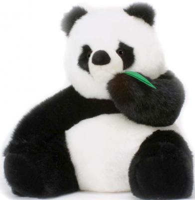 Мягкая игрушка панда Hansa Панда искусственный мех текстиль синтепон белый черный 78 см 1748