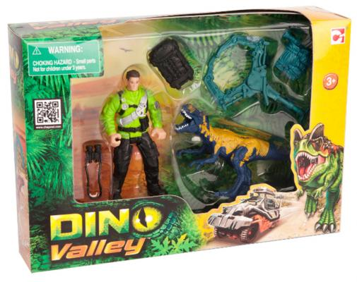 """Игровой набор CHAP MEI """"Динозавр Мегалозавр и ловец динозавров"""" 520007-1"""
