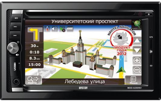 """Автомагнитола Mystery MDD-6290NV 6.2"""" USB MP3 CD DVD FM SD 2DIN 4x50Вт пульт ДУ черный"""