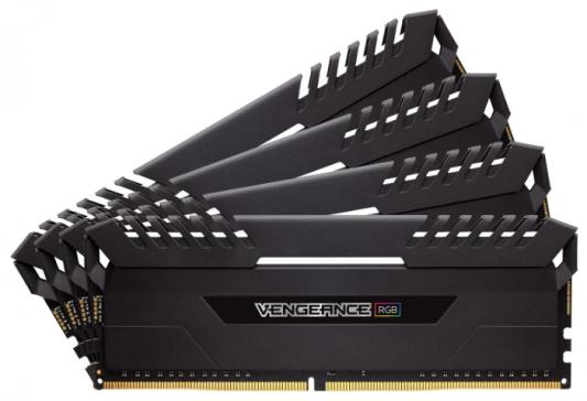 Оперативная память 32Gb (4x8Gb) PC4-27700 3466MHz DDR4 DIMM Corsair CMR32GX4M4C3466C16 оперативная память corsair vengeance rgb cmr32gx4m4c3466c16 rtl ddr4 4 32гб pc4 27700 3466мгц dimm