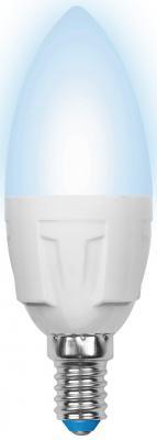 Лампа светодиодная свеча Uniel Palazzo Dim Candle E14 6W 4500K (UL-00000689) LED-C37-6W/NW/E14/FR/DIM PLP01WH