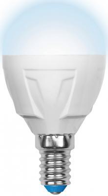 Лампа светодиодная шар Uniel Palazzo Dim Globe E14 6W 4500K (UL-00000692) LED-G45-6W/NW/E14/FR/DIM PLP01WH лампа светодиодная uniel led cw37 6w nw e14 fr dim plp01wh