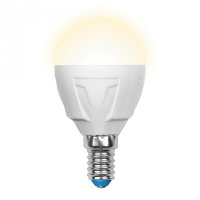 Лента светодиодная шар Uniel UL-00000694 E14 6W 3000K LED-G45-6W/WW/E14/FR/DIM PLP01WH