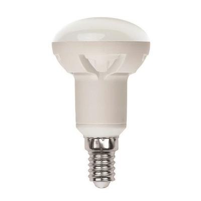 Лампа светодиодная рефлекторная Uniel UL-00000933 E14 6W 3000K LED-R50-6W/WW/E14/FR/DIM PLP01WH uniel лампа светодиодная uniel диммируемая led a60 11w ww e27 fr dim plp01wh ul 00000687