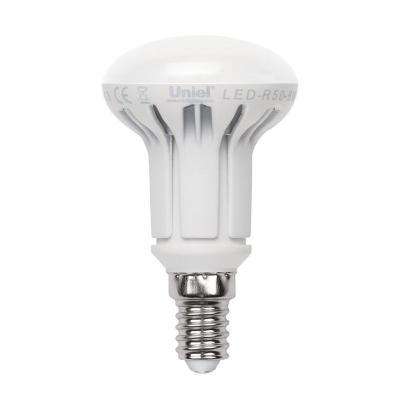 Лампа светодиодная рефлекторная Uniel UL-00000934 E14 6W 4500K LED-R50-6W/NW/E14/FR/DIM PLP01WH uniel лампа светодиодная 07889 e14 6w 4500k свеча матовая led c37 6w nw e14 fr alp01wh