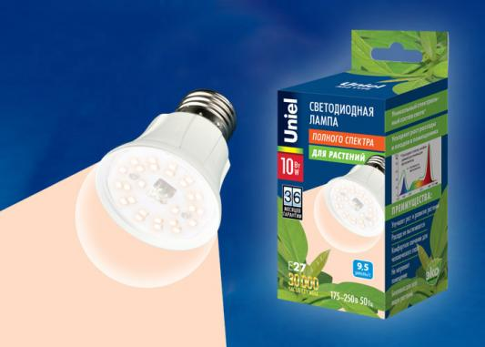 Лампа светодиодная шар Uniel LED-A60-10W/SPFR/E27/CL PLP01WH E27 10W 10w 12w ultra violet uv 365nm 380nm 395nm high power led emitting diode on 20mm cooper star pcb