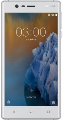 Смартфон NOKIA 3 16 Гб серебристый белый (11NE1S01A09) смартфон nokia 3 black