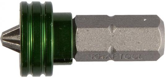 Бита Kraftool Expert с магнитным держателем-ограничителем тип хвостовика C 1/4 PH2 25мм 26128-2-25-1 бита с торцевой головкой kraftool expert 26399 h2
