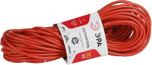 Удлинитель Эра UP-1-2x1.0-30m оранжевый 1 розетка 30 м удлинитель эра б0033017 30 м 1 розетка