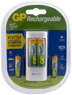 Зарядное устройство GP U211100/40SEFR-2CR4 /15 зарядное устройство aa aaa gp smart energy u211100 40sefr 4 аккумуляторные батареи gp smart energy 400 мач