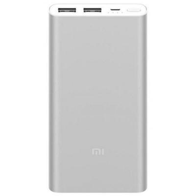 Портативное зарядное устройство Xiaomi Mi Power Bank 2S slim 10000mAh серебристый шапка женская mitya veselkov цвет сиреневый shapka3 vio sad размер универсальный