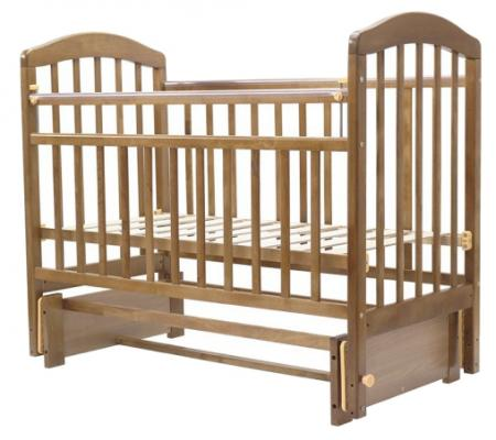 Кроватка с маятником Топотушки Лира-5 (арт. 32/орех(карамель))