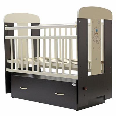Кроватка с маятником Топотушки Верона (арт. 04/венге-сл.кость) планшетик топотушки