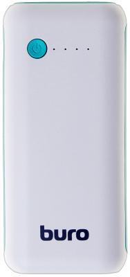 Портативное зарядное устройство Buro RC-5000WB 5000мАч белый/голубой портативное зарядное устройство buro rc 7500a b 7500мач черный