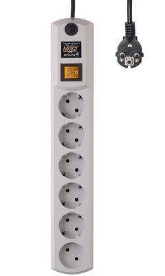 Сетевой фильтр MOST HPW 2М БЕЛ белый 6 розеток 2 м сетевой фильтр most hpw 6 sockets 5m black