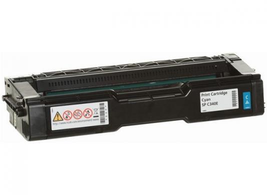 Картридж Ricoh SP C340E для Ricoh SP C340DN голубой 3800стр цветной лазерный принтер ricoh sp c340dn 916916