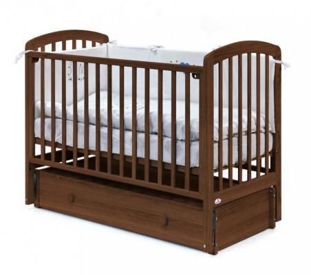 Купить Кровать с маятником на колесах Fiorellino Tina (oreh), орех, бук, Кроватки с маятником