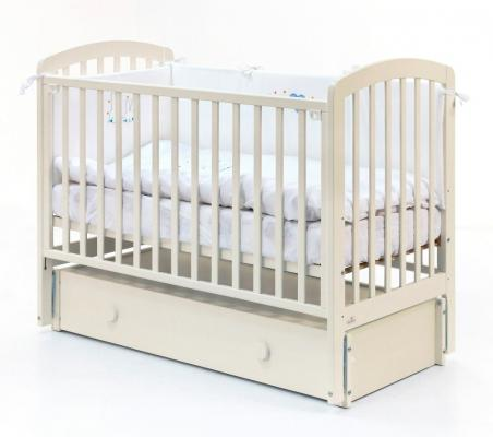 Купить Кровать с маятником на колесах Fiorellino Tina (ivory), слоновая кость, бук, Кроватки с маятником