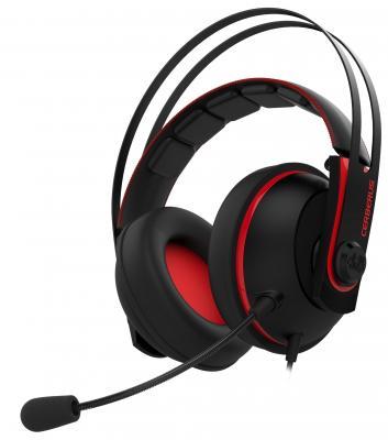 Игровая гарнитура проводная ASUS Cerberus V2 красный черный CERBERUS V2/RED/UBW/AS