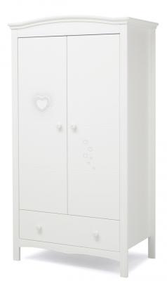 Шкаф двустворчатый Erbesi Cuore (белый)
