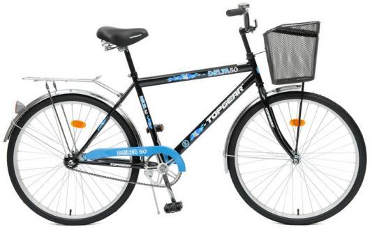 Велосипед Top Gear Delta 50 (ВН26247) 26 черно-синий top gear велосипед 26 delta 50 1 скорость черный синий стальная корзина звонок вн26247к