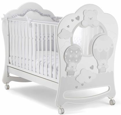 Купить Кроватка c окном Pali Bonnie Oblo (белый), массив бука / МДФ, Кроватки без укачивания