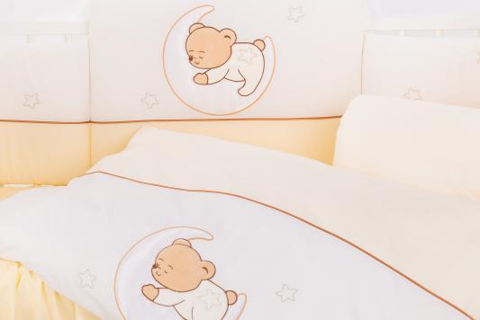 Сменный комплект постельного белья 3 предмета 125х65см Lepre Amore (цвет 31 крем) матрас в кроватку 125х65см lepre sogni d