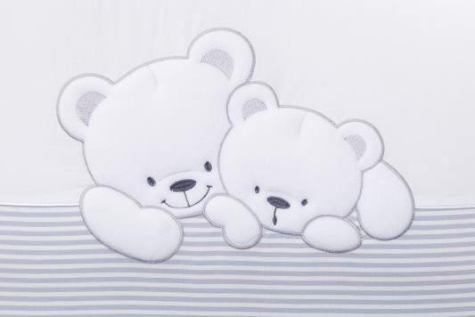 Сменный комплект постельного белья 3 предмета 125х65см Lepre Sweet Bears (цвет 21 серый-полоска) cloud factory комплект постельного белья 3 предмета рыбы