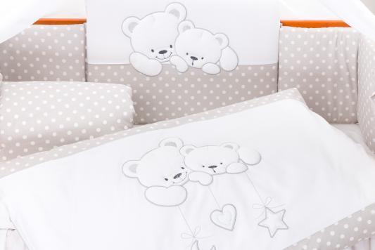 Постельный сет 6 предметов 125х65см Lepre Bears (цвет23 серый горох) матрас в кроватку 125х65см lepre sogni d