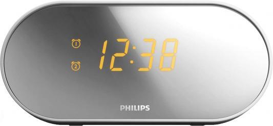 Радиобудильник Philips AJ2000/12 серебристый белый радиобудильник philips aj3200 12