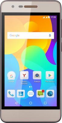 Смартфон Micromax Q3551 шампань 4.5 8 Гб Wi-Fi GPS 3G смартфон micromax a107 cosmic grey 4 5 8 гб wi fi gps 3g 4 5 2sim 8гб gps wi fi 3g android 5 0 2000 ма ч