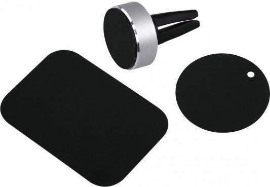 Держатель Hama Magnet Alu для телефона универсальный серебристый 00173765 держатель hama flipper для телефона универсальный шириной от 48 до 90 мм черный 00173889