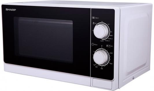 СВЧ Sharp R-6000RW 800 Вт белый чёрный sharp r 2772rsl