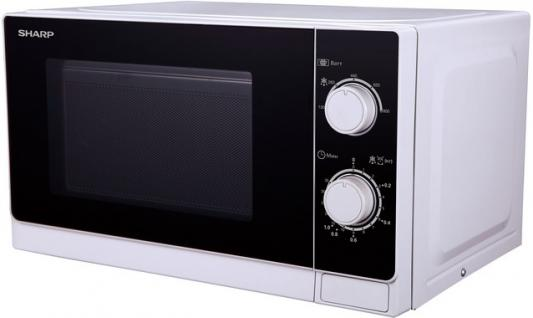 СВЧ Sharp R-2000RW 800 Вт белый чёрный микроволновая печь sharp r 2000rw 800 вт белый черный