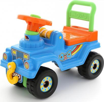 купить Каталка-машинка Полесье Джип 4х4 №2 голубой от 1.5 лет пластик по цене 1730 рублей