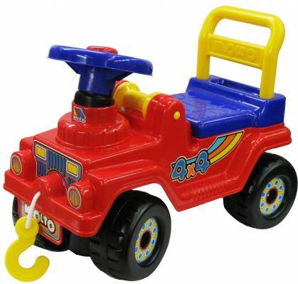 Каталка-машинка Полесье Джип 4х4 №2 красный от 1.5 лет пластик