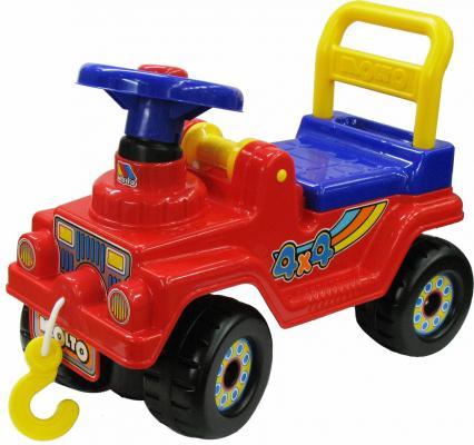 Каталка-машинка Полесье Джип 4х4 красный от 1 года пластик полесье полесье каталка mig скутер