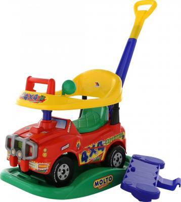 Каталка-машинка Полесье Джип Викинг красный от 1 года пластик полесье автомобиль каталка джип с ручкой цвет красный