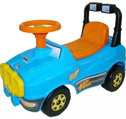 Каталка-машинка Полесье Джип голубой от 1 года пластик полесье полесье каталка mig скутер
