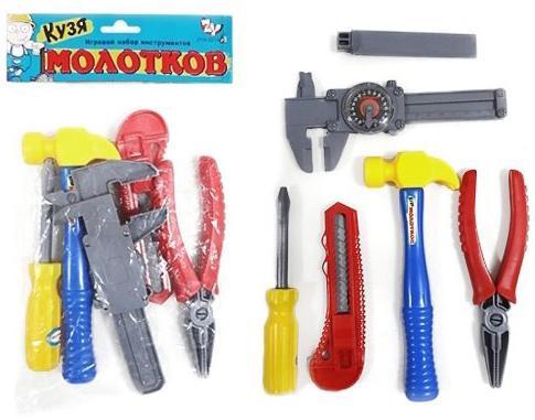 Набор инструментов Shantou Gepai Кузя Молотков 6 предметов игрушечные инструменты shantou gepai набор инструментов маленький мастер