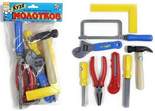 Набор инструментов Shantou Gepai Кузя Молотков 8 предметов набор инструментов shantou gepai 721 9 12 предметов