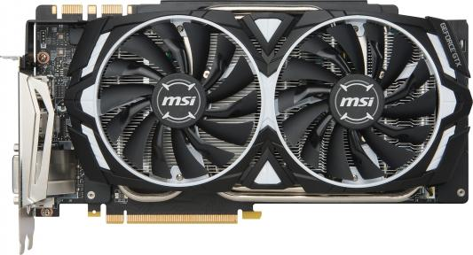 Видеокарта 11264Mb MSI GeForce GTX1080Ti PCI-E 352bit GDDR5X HDMI DP HDCP GTX 1080 Ti ARMOR 11G OC видеокарта 8192mb msi geforce gtx 1080 gaming x 8g pci e 256bit gddr5x dvi hdmi dp retail