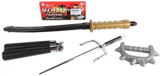 Набор оружия Shantou Gepai Ниндзя черный серебристый