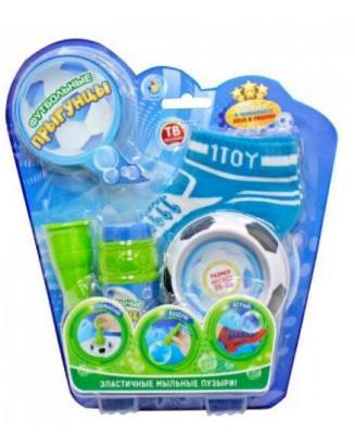 Мыльные пузыри 1Toy Футбольные Прыгунцы 80 мл размер носков 26-33